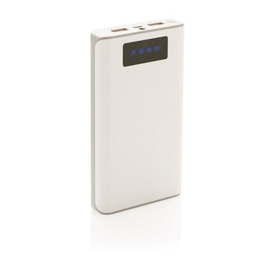 XD COLLECTION Powerbank mit Display, 10.000 mAh, weiß