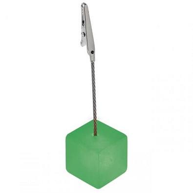 Memohalter Cube, grün/gefrostet