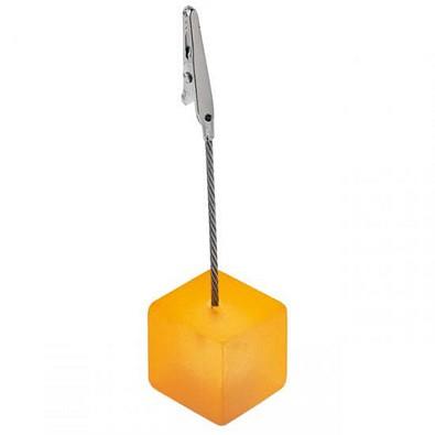 Memohalter Cube, orange/gefrostet