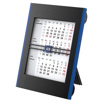 geiger notes 2-Jahres-Tisch-Drehkalender 2022, schwarz/blau