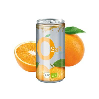 200 ml Bio Orangensaft (Dose) - Fullbody transparent (Pfandfrei)