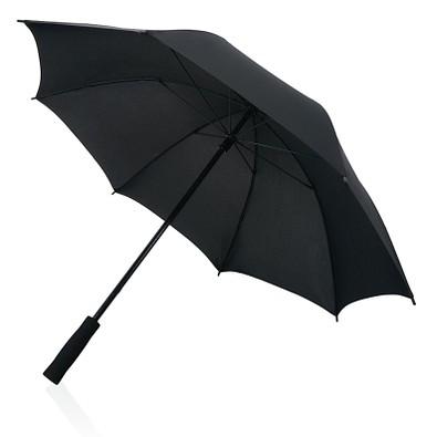 "XD COLLECTION 23"" Sturm Regenschirm aus Fiberglas, schwarz"