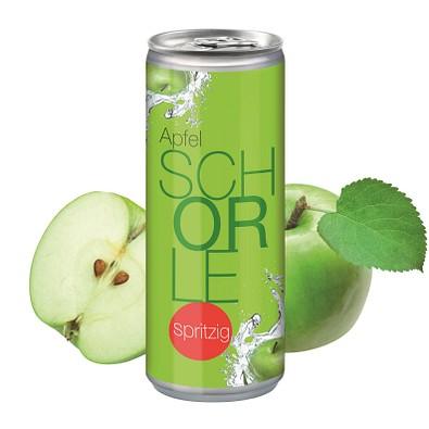 """250 ml Apfelschorle """"Spritzig"""" - Body Label"""