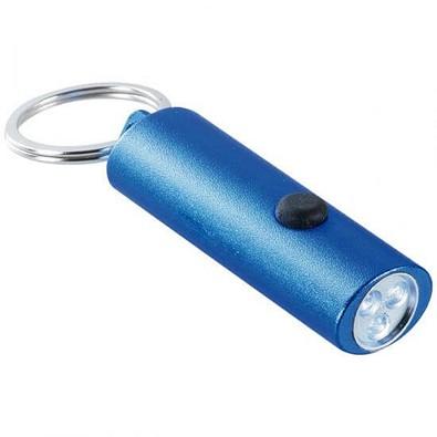 3er LED-Metall-Taschenlampe, blau/metallic