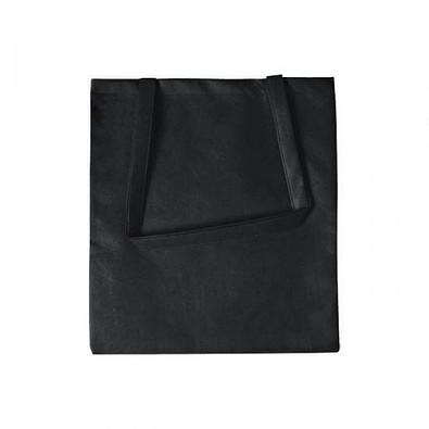 Joytex® Vliestasche Textile mit langen Henkeln, schwarz