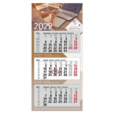 3-Monats-Wandkalender Modern 2022