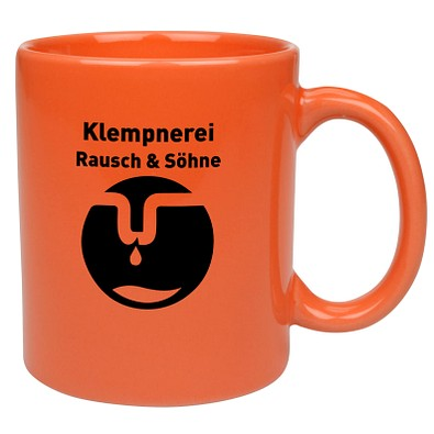Keramikbecher Carina, 300 ml, orange