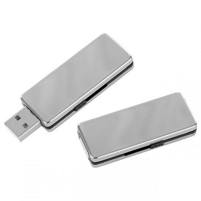 Edelstahl-USB-Stick Valenza, 4 GB, silber