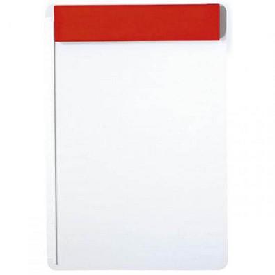 Schreibbrett, Weiß/Rot