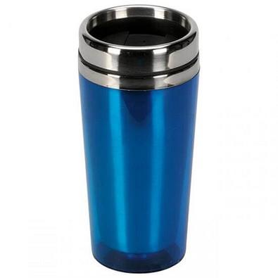 Doppelwandiger Thermobecher, 500 ml, blau