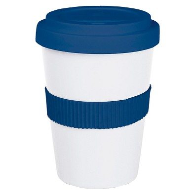 Coffee to Go Becher Classic, 350 ml, weiß/blau