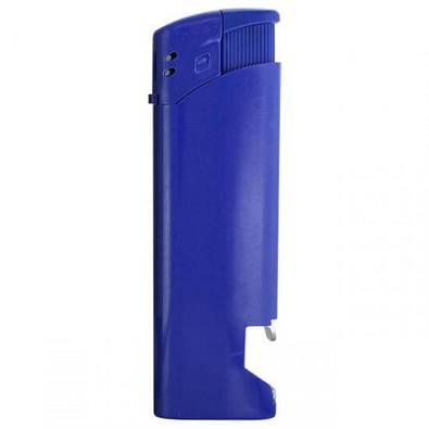 Piezo-Feuerzeug mit Flaschenöffner, blau