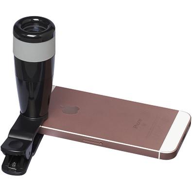 8 x Teleskopobjektiv für Smartphones, schwarz