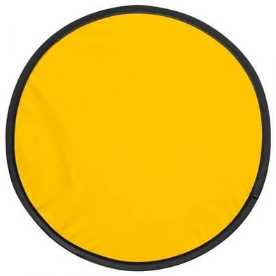 Wurfscheibe in Hülle, gelb