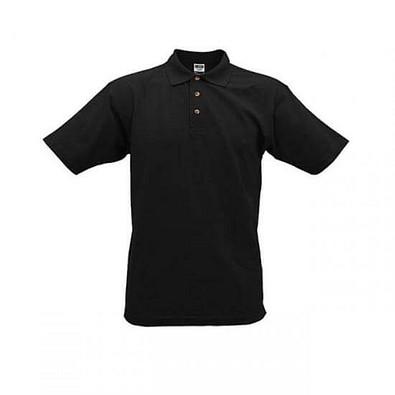 JAMES & NICHOLSON Unisex Poloshirt, schwarz, XXXL