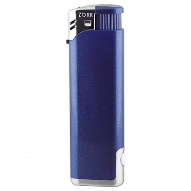Piezo-LED-Feuerzeug, blau/metallic
