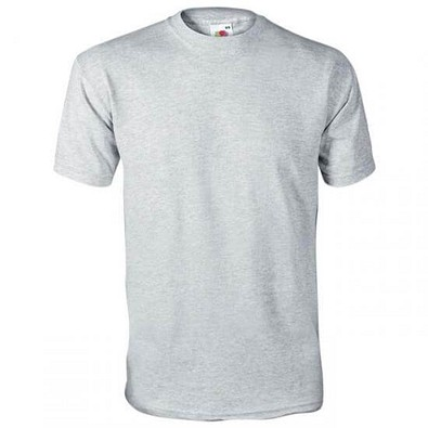 FRUIT OF THE LOOM® Unisex T-Shirt Original T, grau, L