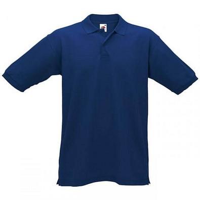 FRUIT OF THE LOOM® Unisex Poloshirt Pique, dunkelblau, L
