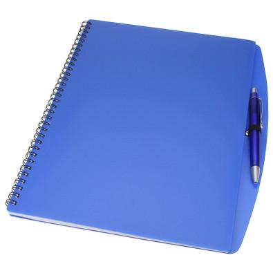 Notizbuch mit Kugelschreiber Busy, DIN A4, Blau