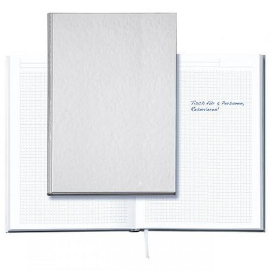geiger notes Notizbuch Note:Book, Neutral, DIN A5, kariert, silber