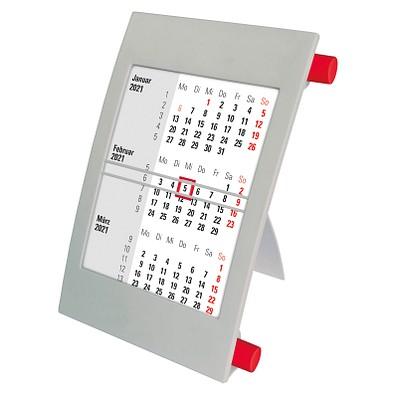 2-Jahres-Tischkalender 2021/2022, grau/rot