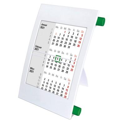 2-Jahres-Tischkalender 2021/2022, Weiß/Grün