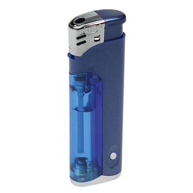 Piezo LED-Feuerzeug Light Fire, blau/matt