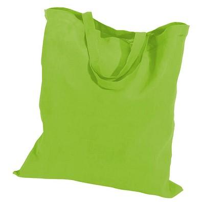 Einkaufstasche Baumwolle, kurze Henkel, apfelgrün