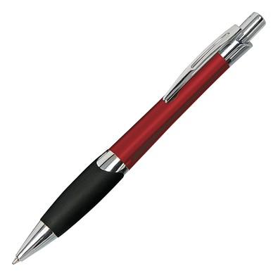 Metall-Kugelschreiber Lugano, blaue Mine, Rot