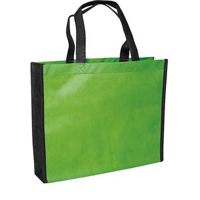 Joytex® Vliestasche Bergen, apfelgrün/schwarz