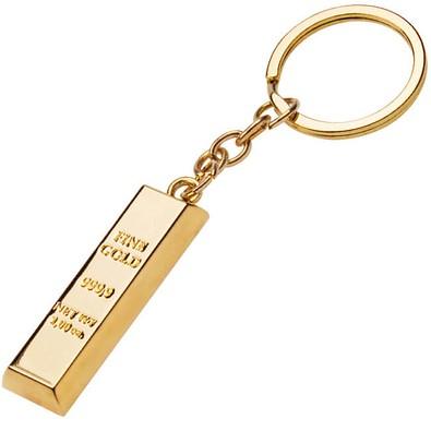 Schlüsselanhänger Goldbarren