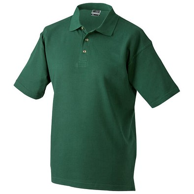JAMES & NICHOLSON Unisex Poloshirt, dunkelgrün, XXL