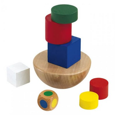 Holzpuzzle-Set, Crazy Tower