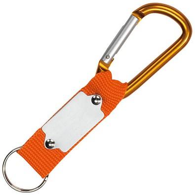 Schlüsselanhänger mit Karabiner, orange