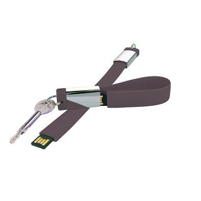 Design-Schlüsselanhänger mit USB-Stick, 8 GB, anthrazit