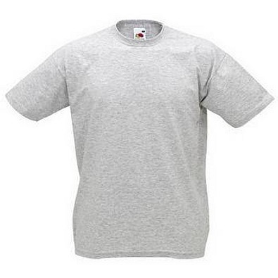 FRUIT OF THE LOOM® Unisex T-Shirt Valueweight T, grau, L