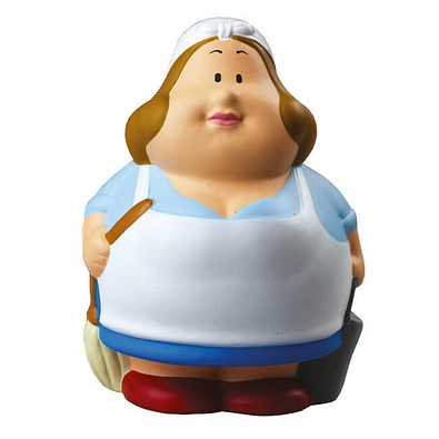 Herr Bert® Anti-Stress-Figuren Putzfee Berta, weiß/blau