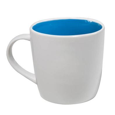 Keramiktasse Tina, Weiß/Blau