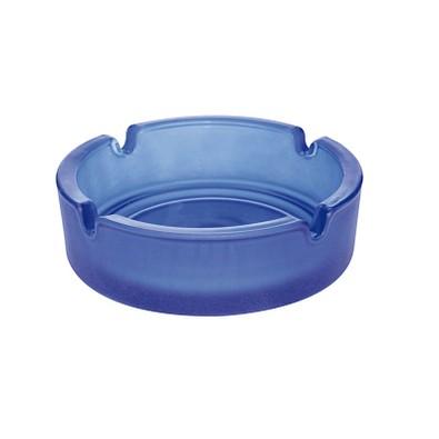 Glas-Aschenbecher, blau/frosted