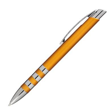 Kugelschreiber Nashville, blaue Mine, orange/metallic