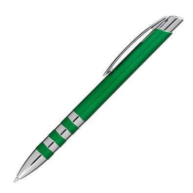 Kugelschreiber Nashville, blaue Mine, grün/metallic