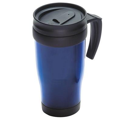 Thermobecher Hot  Cold, 400 ml, blau/transparent