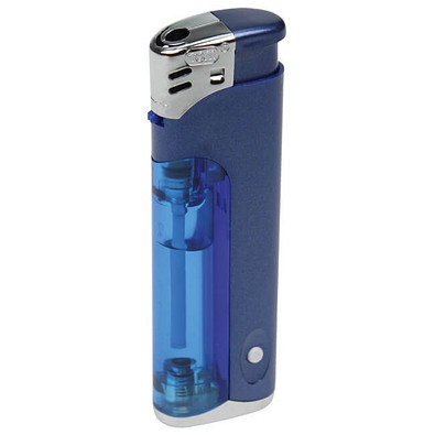 Werbe-Set: 250 LED-Feuerzeuge, inkl. Druck, blau-metallic