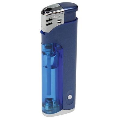 Piezo LED-Feuerzeug Light Fire, blau-metallic