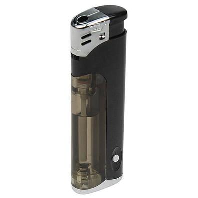Piezo LED-Feuerzeug Light Fire, schwarz-metallic