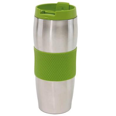 Edelstahl-Isolierbecher Kaffeepause, 400 ml, silber/apfelgrün