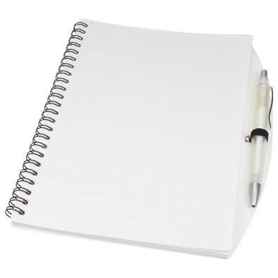 Notizbuch Busy mit Kugelschreiber, DIN A5, liniert, weiß