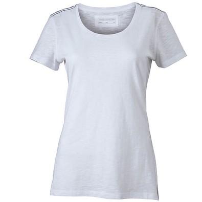 JAMES & NICHOLSON Damen T-Shirt, weiß, L