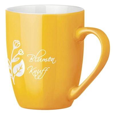 Tasse Gloria, 300 ml, gelb/weiß