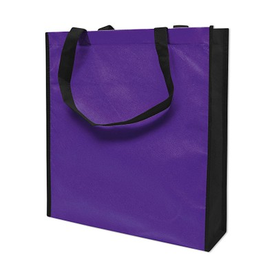 Joytex® Vliestasche Big Shopper, lila/schwarz